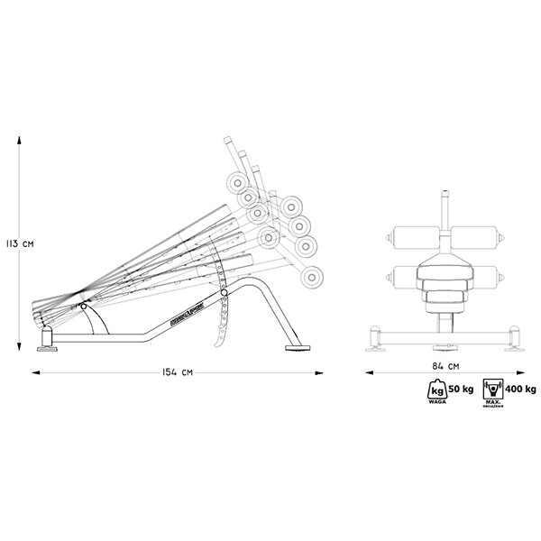 ספת בטן מקצועית מדגם MP-L205 מבית MARBO