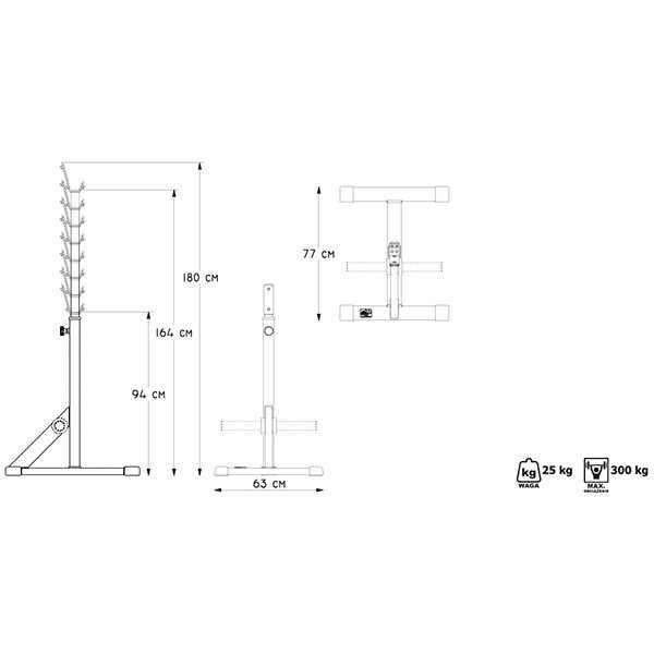 סטנד מקצועי למשקולות מדגם MP-S201 מבית MARBO